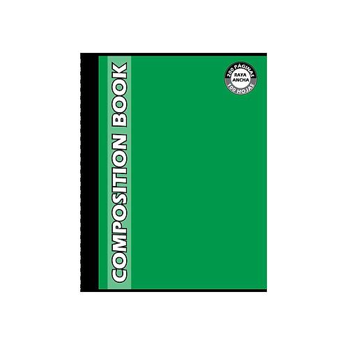Cuaderno Cosido Grande Composition Doble Raya, 200 páginas