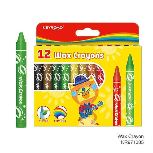 Crayones de cera Jumbo. 11 x 105 mm. Caja de 12 colores