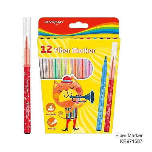 Marcadores escolares, Caja de 12 colores
