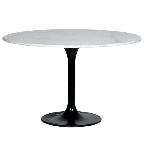 Eettafel marmer rond wit - 120x76