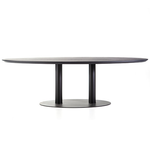 Eettafel ovaal - 240x120 zwart