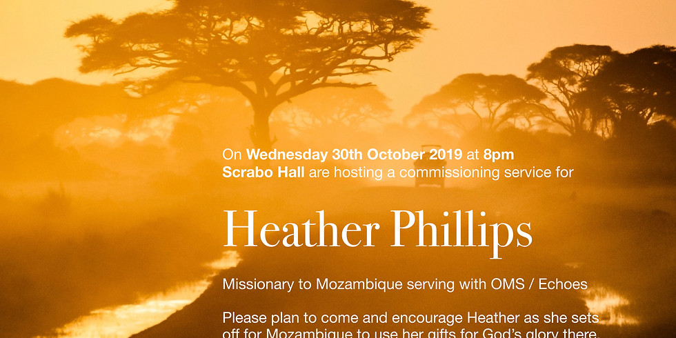 Commissioning Service for Heather Phillips