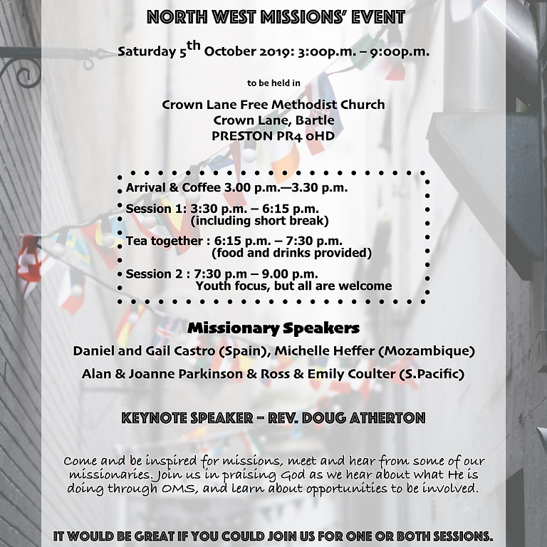 North West Missions Event