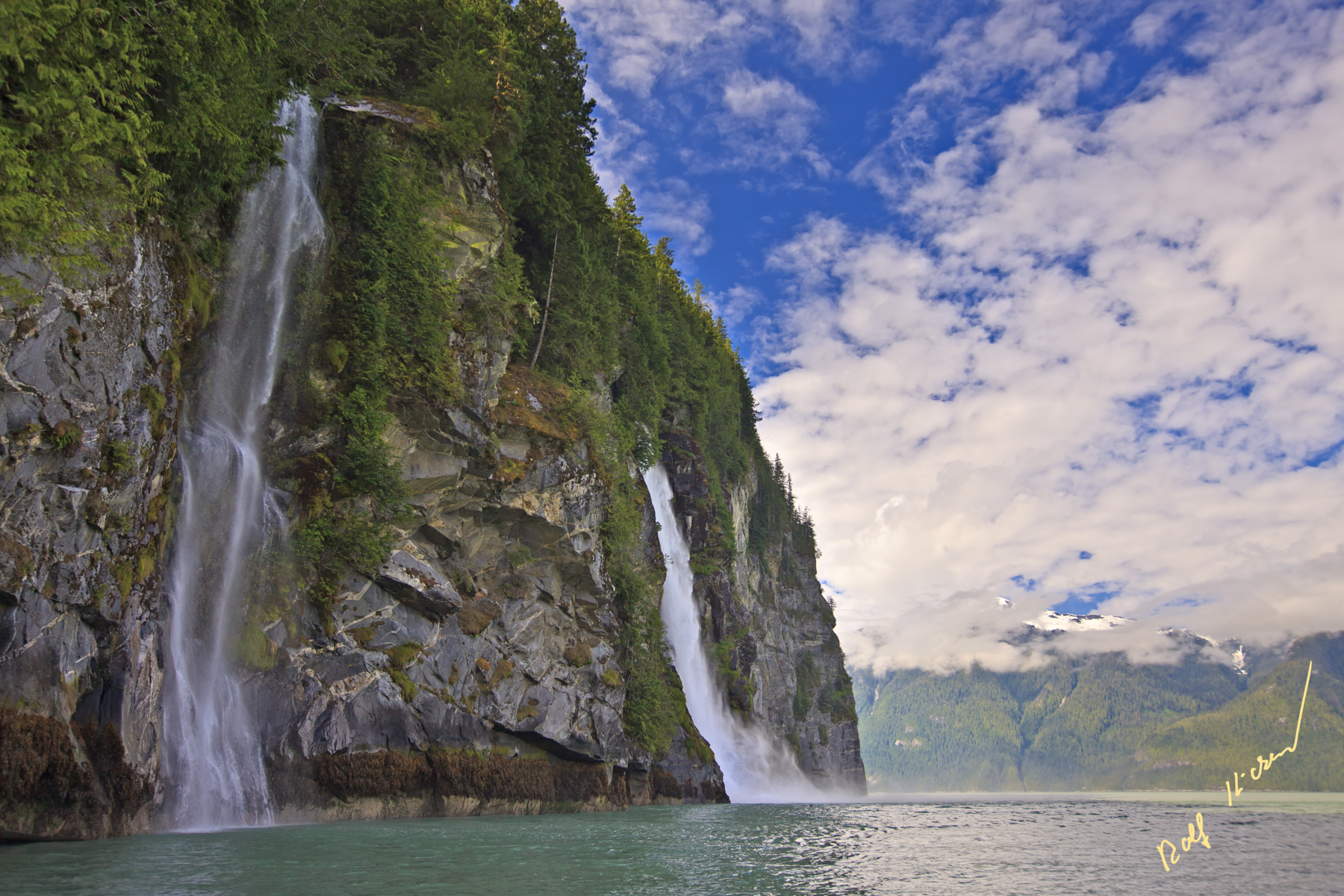 Knight Inlet Waterfalls