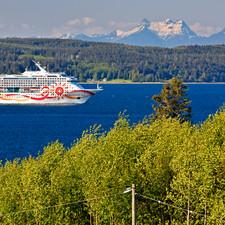 Cruiseship passing B&B