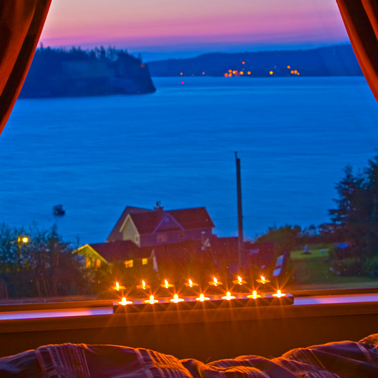 Bed and breakfast sunset