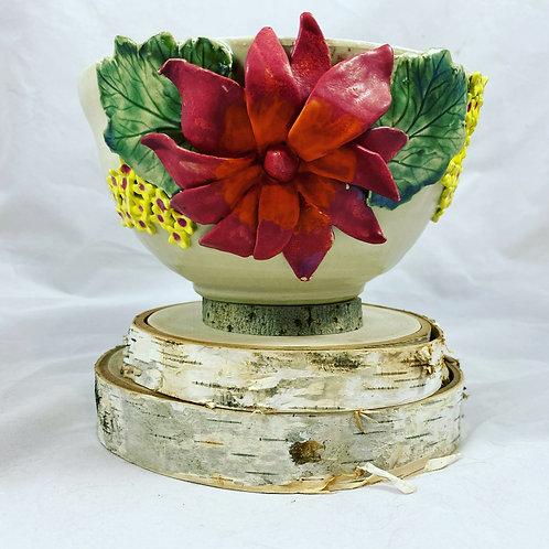 Red Flower Bowl