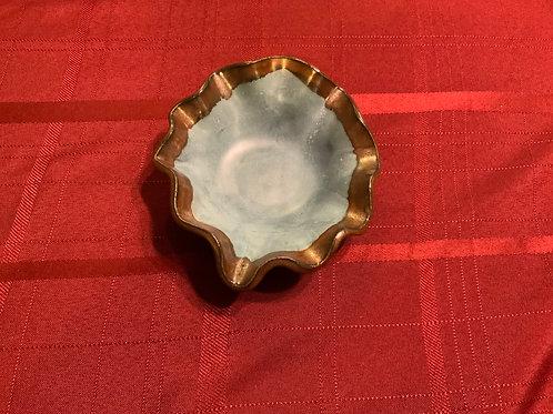Wavey edge small bowl - Satin Orb