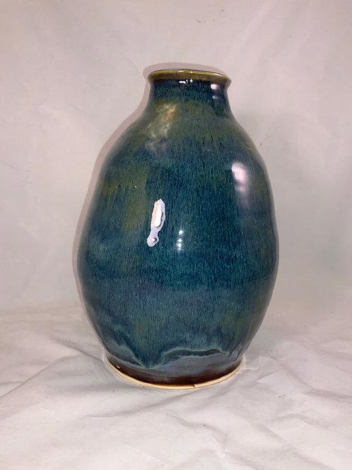 Blue variety round belly vase