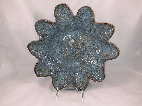 Petal edges, patterned inside Bowl