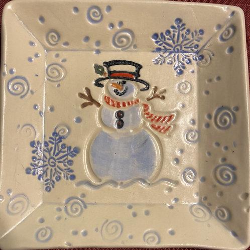 Snowman dish