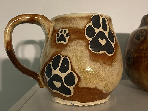 Tan/Brown Paw Mug
