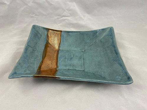 Rcetangular Blue / Copper Dish
