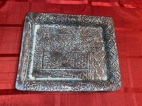 Square multi patterned platter