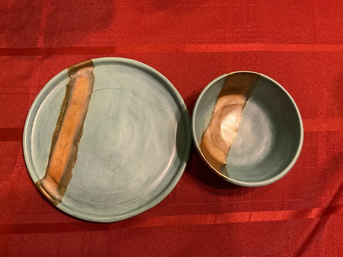 Plate and Bowl - Satin Orb