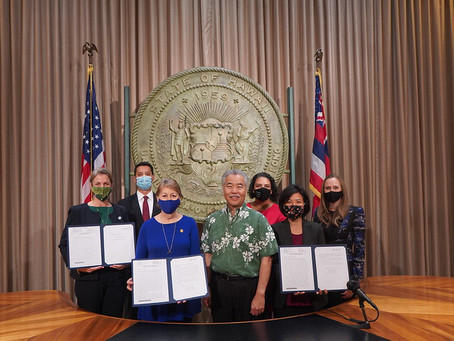 Bipartisan Women's Legislative Caucus Bills Signed by Governor Ige