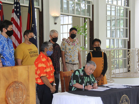 Bills Signed Into Law to Support Local Agriculture, Combat Sea Level Rise, Promote Economic Recovery
