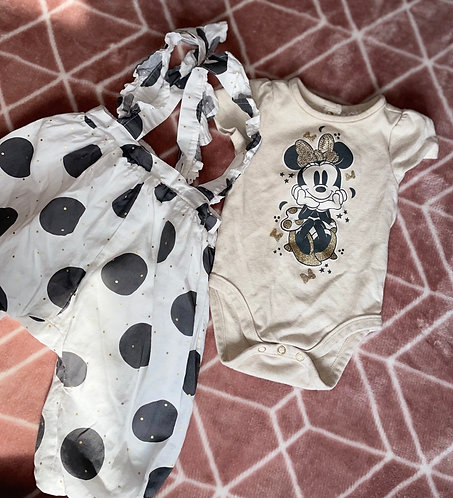 Disney baby outfit 6-9m