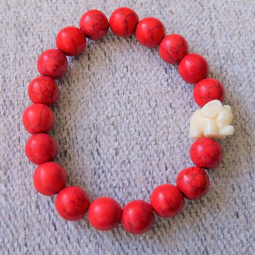 Pulsera Roja Dije de Elefante