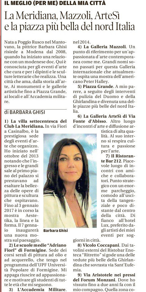 GAZZETTA - Rubrica 10 e Modena - BARBARA