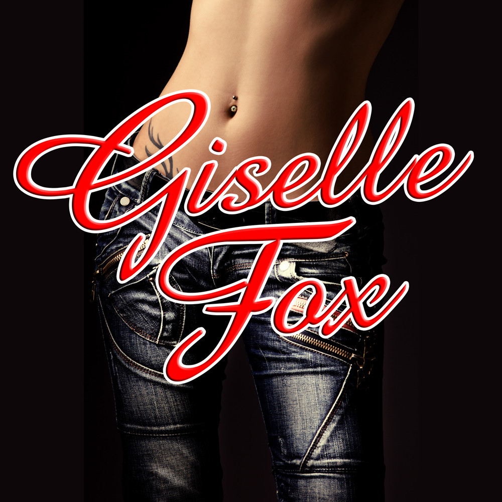 The words Giselle Fox in red script overlay a photograph of a woman's naked belly and tight jeans.