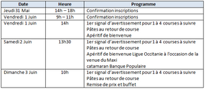 Programme national Classe A