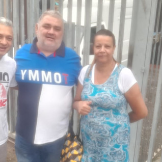 Dirigentes visitam Pety Fritas