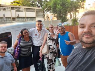 Dirigentes visitam a empresa Top Cau