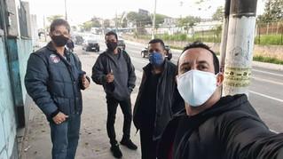 Dirigentes visitam trabalhadores da empresa Tapiocas da Terrinha