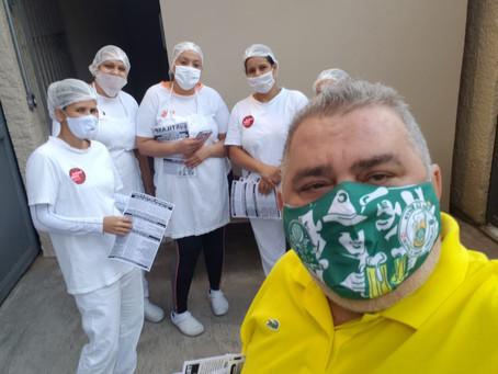 STILASP visita trabalhadores da Romano Cesare