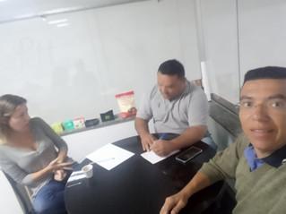 Dirigentes visitam Leletit