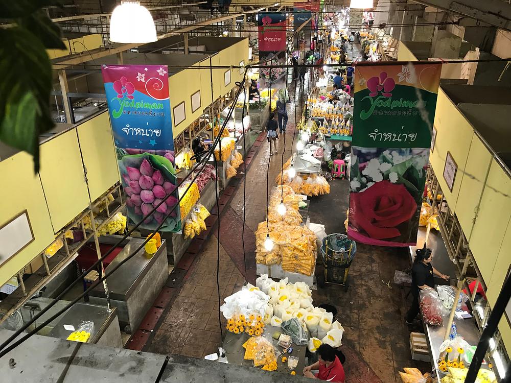 Pak Khlong Talat flower market in Bangkok, Thailand - photo by Chris Wotton