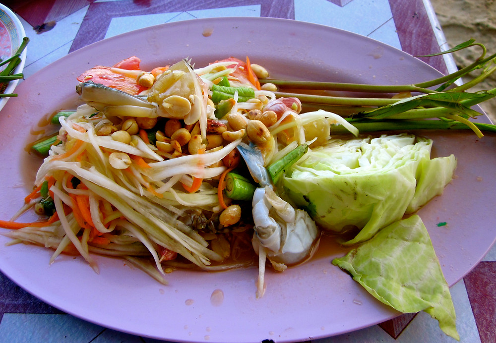 Somtum papaya salad in Thailand - photo by Chris Wotton