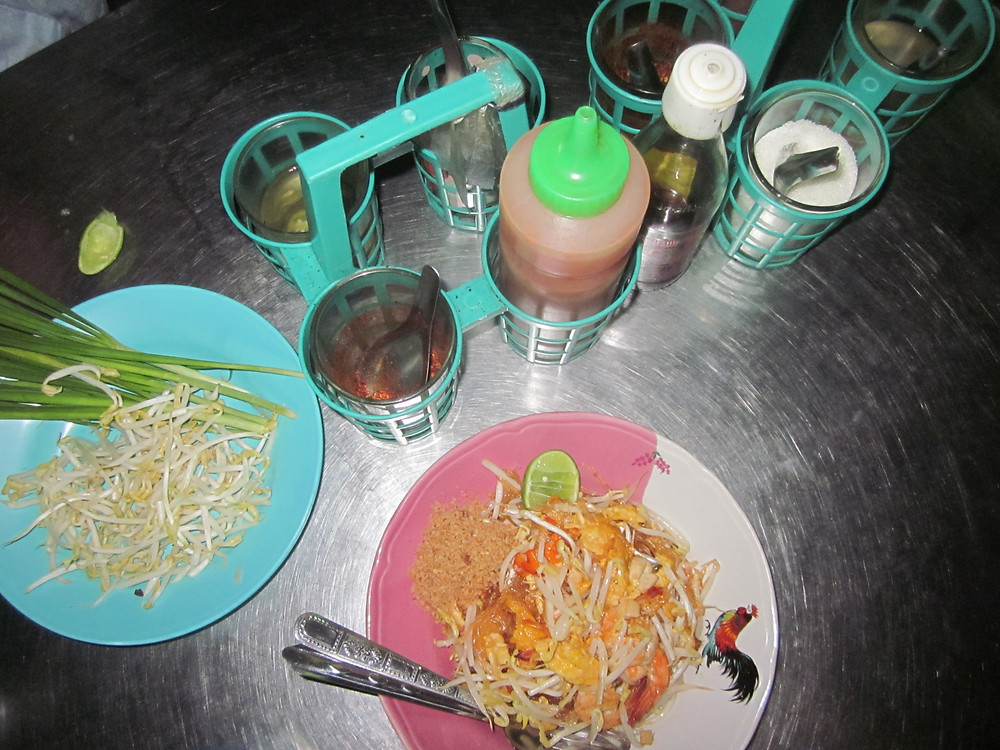 Pad thai with prawns in Thailand - photo by Chris Wotton
