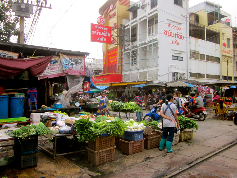 Mahachai market in Samut Sakon, Thailand - photo by Chris Wotton