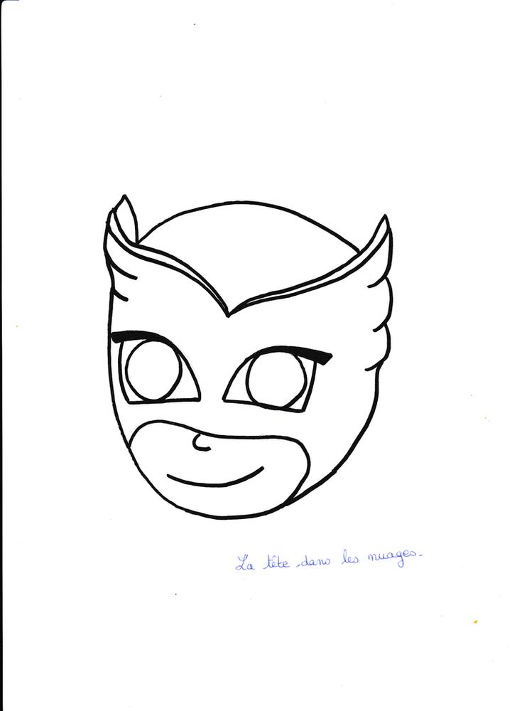 Masque à Imprimer Bibou Pyjamasque