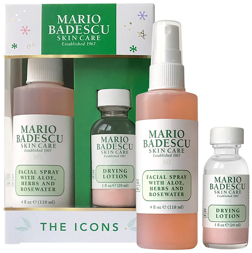 Mario Badescu Mario Badescu The Icons: Drying Lotion & Rose Facial Spray Duo