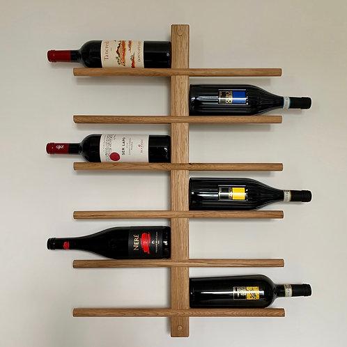 Oak wine rack