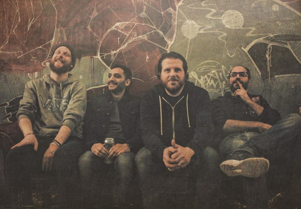 Press band photo of Toronto post-hardcore band Diamond Weapon.