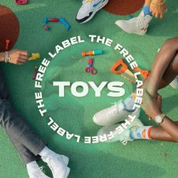 """The single artwork for The Free Label's song, """"Toys."""""""