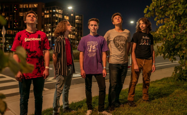 Press photo for Washington, D.C. five-piece rock band One Way Out.