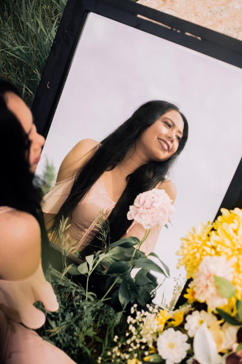 Press image for British Columbia indie pop artist Jaenna Cali.