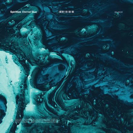 Album artwork for Eternal Blue, the much-anticipated debut album from Canada's progressive metal/metalcore trio Spiritbox.