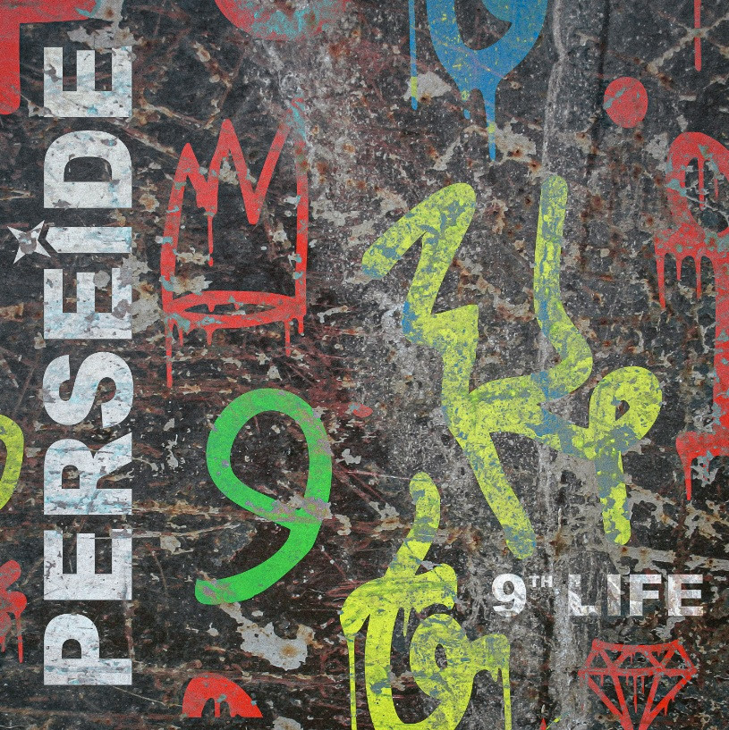 """Single artwork for French alt. rock/metal outfit Persiede's new single, """"9th Life."""""""
