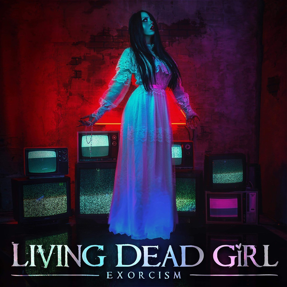 Album artwork for, Exorcism, the debut album from Canadian alternative metal/heavy metal act Living Dead Girl.