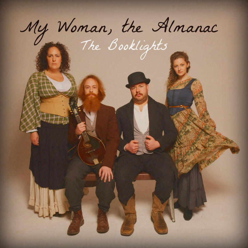 """Single artwork for the lead single, """"My Woman, the Almanac,"""" from New York folk collective The Booklights."""