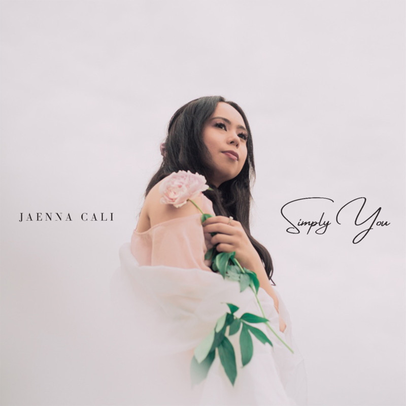 """Single artwork for Canadian indie pop artist Jaenna Cali's debut single, """"Simply You."""""""