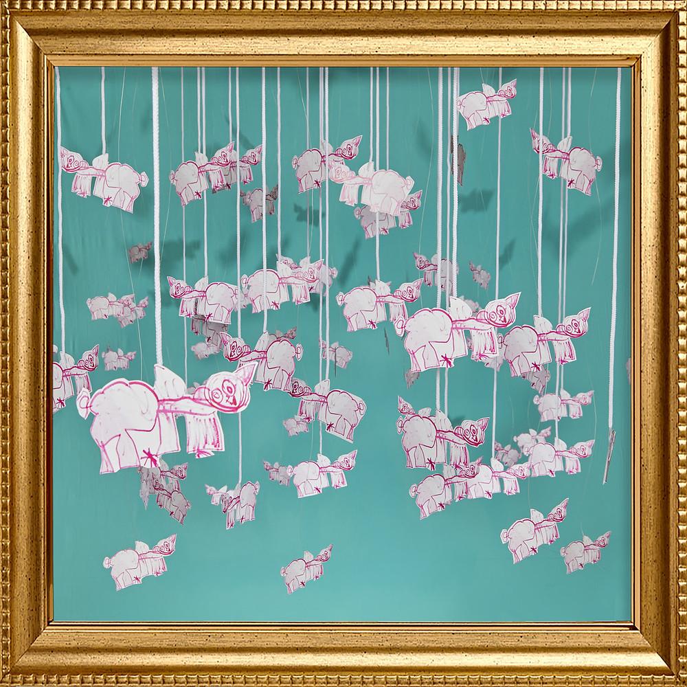 """Artwork for producer/singer-songwriter Grabbitz's brand new single, """"Pigs In The Sky."""""""