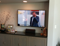 Wall Mounted Living Room TV with Center