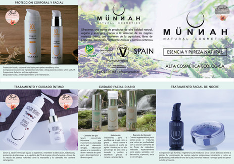 Tríptico (45 x 15 cm) de Productos Münnah Natural Cosmetic